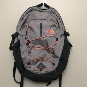 The North Face Gray & peach Borealis backpack